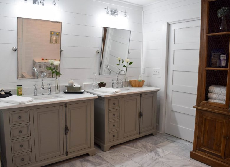 Custom built home bathroom in North Georgia
