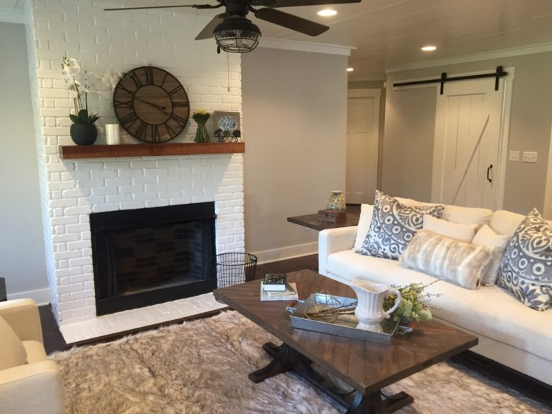 Custom built home in Alpharetta with staged furniture